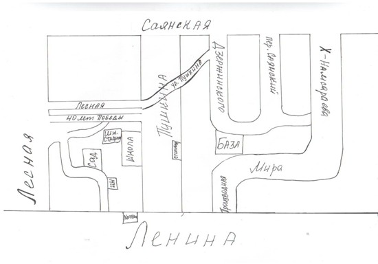 План – схема микрорайона. 250м