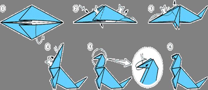 """Схема оригами """"Тюлень"""""""