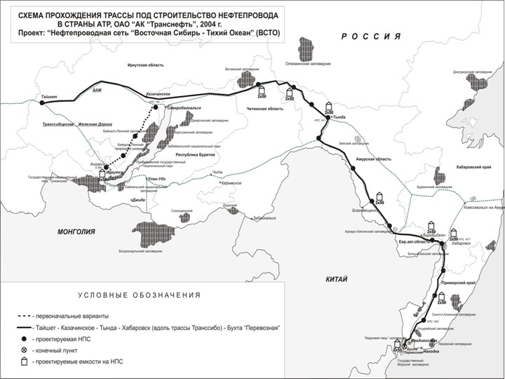 Схема нефтепровода Транснефти