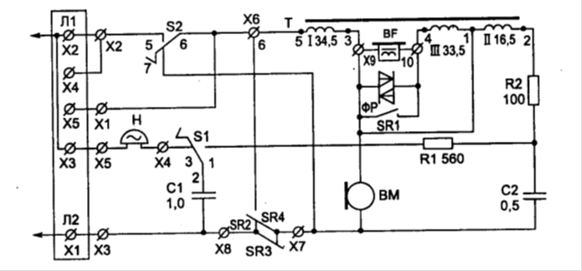 Схема телефонного аппарата ТА-