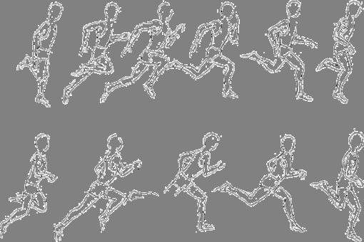 как рисовать бегущего человека: