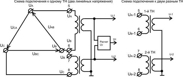 Схема подключения устройства к
