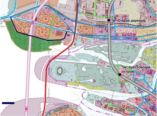 Транспортная схема района