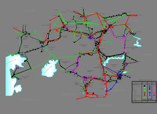 Схема развития электрических