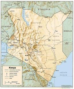 Kenya map 1