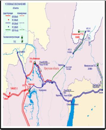 Схема энергетики Иркутской