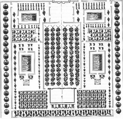 Сад Древнего Египта. Схема
