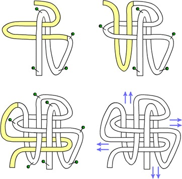 Схема завязывания узла 'Лист
