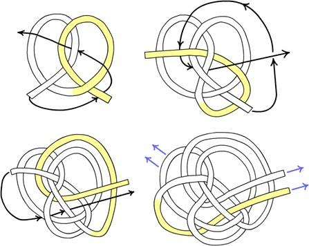 Схема завязывания узла '