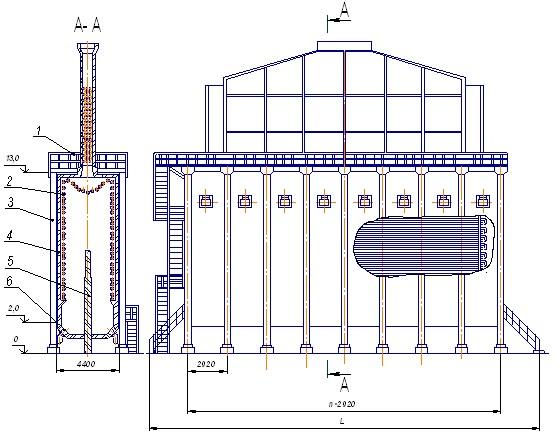 Схема вертикальной трубчатой