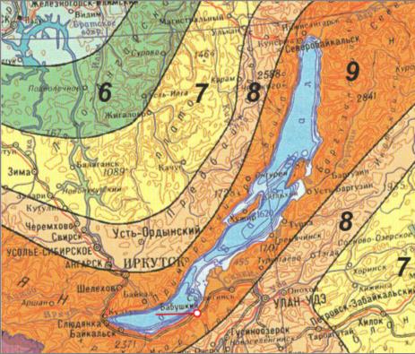 карты общего сейсмического