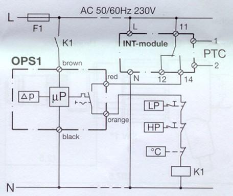 Схема подключения OPS-1