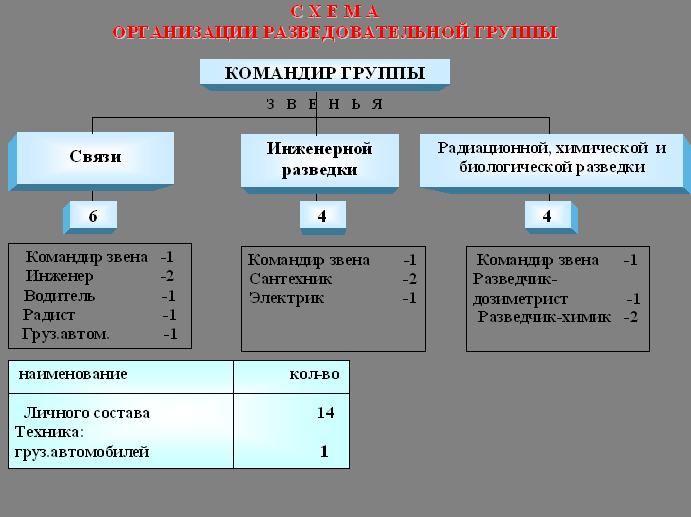 8.Схема организации звена