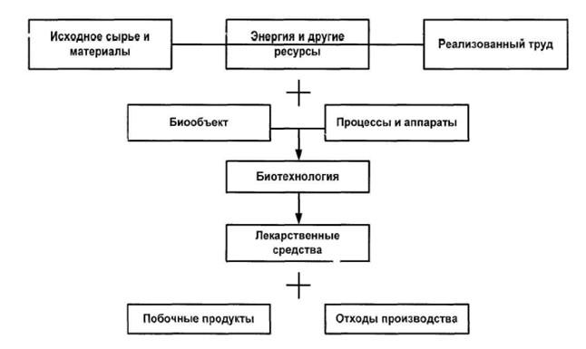 Схема биотехнологического