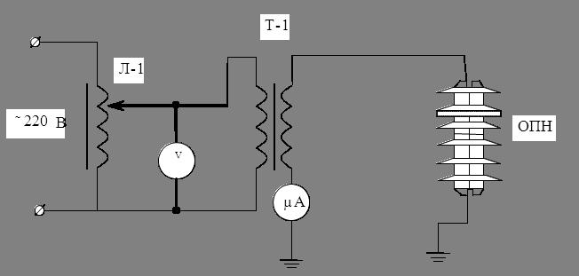 Схема для измерения тока