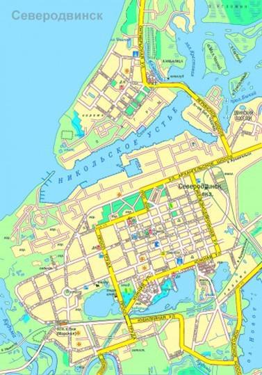 Карта Северодвинска с улицами