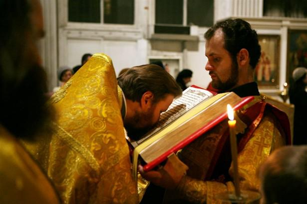 Хор после чтения Евангелия: